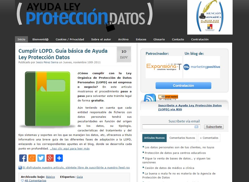 Ayuda Ley Protección de Datos